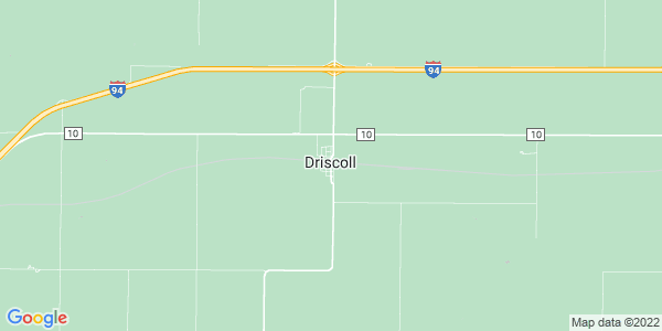 Map of Driscoll, ND