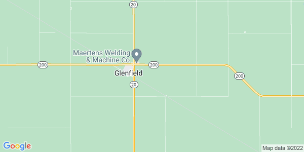 Map of Glenfield Township, ND