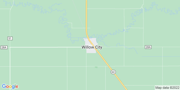 Map of Willow City, ND