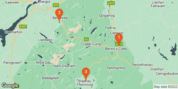 locations on map