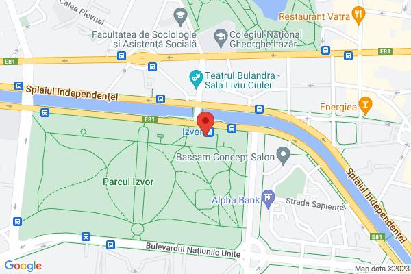 Spatiu Comercial Unirii Parcul Izvor -Metrou Map