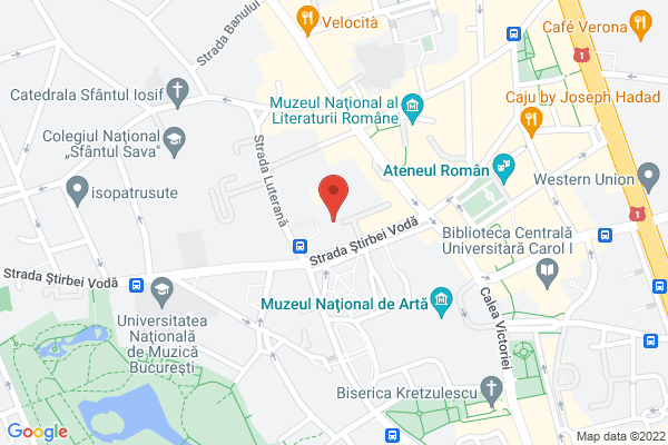Apartament 3 camere Cismigiu - Biserica Luterana - Stirbei Voda Map
