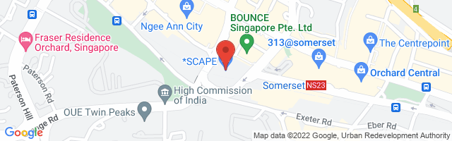 *SCAPE, 2 Orchard Link, #05-01, Singapore 237978