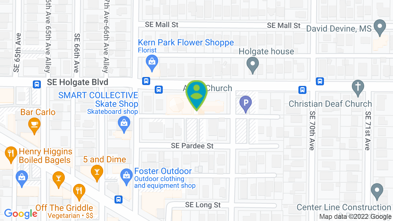 Map of Portland Circle of Friends and Family Preschool