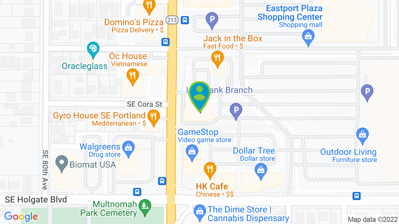 Map of US Bank, Eastport Branch