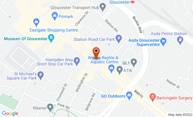 Eastgate Street, Gloucester, UK