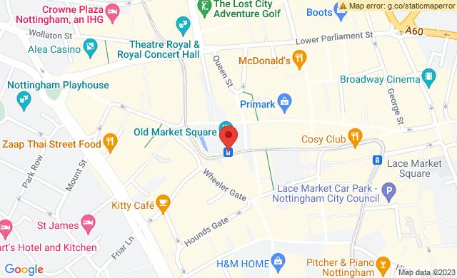 Old Market Square, Nottingham, UK