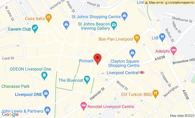 Church Street opposite Primark  Liverpool  United Kingdom