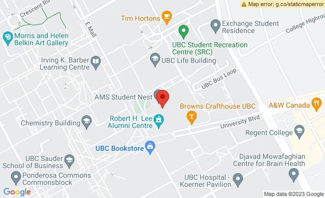 6133 University Blvd, Vancouver, BC V6T 1Z1, Canada