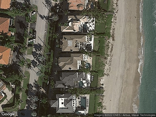 9 W Ocean Pl Highland Beach, FL 33487 Satellite View