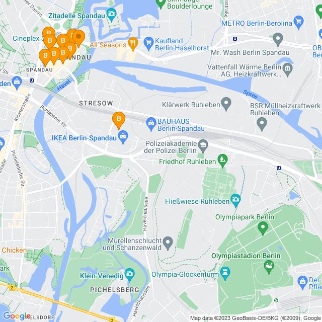 Karte Altstadt Spandau in Spandau