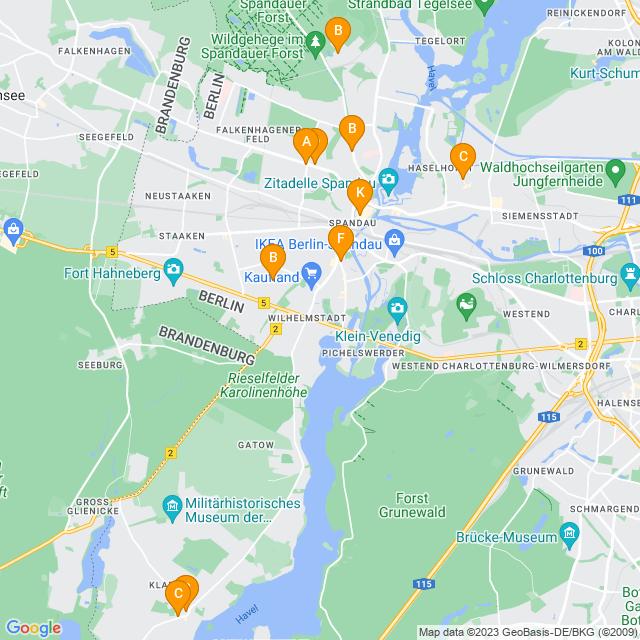 Karte DHL Paketshop in Spandau