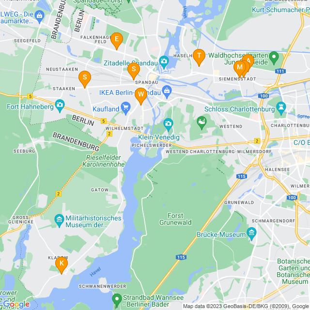 Karte UPS Access Point in Spandau