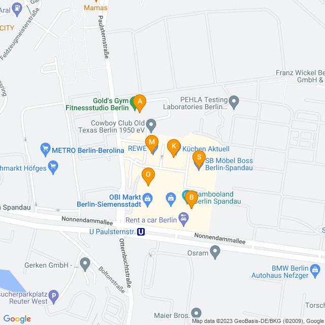 Karte Siemensstadt Park in Spandau