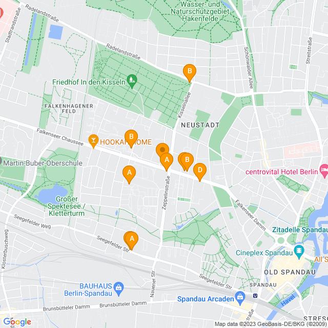 Karte Falkenhagener Feld in Spandau