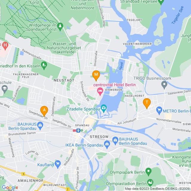 Karte Wohnungsauflösungen in Spandau
