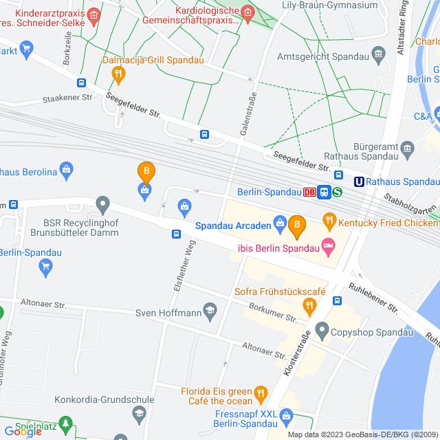 Karte Spandau Arcaden in Spandau