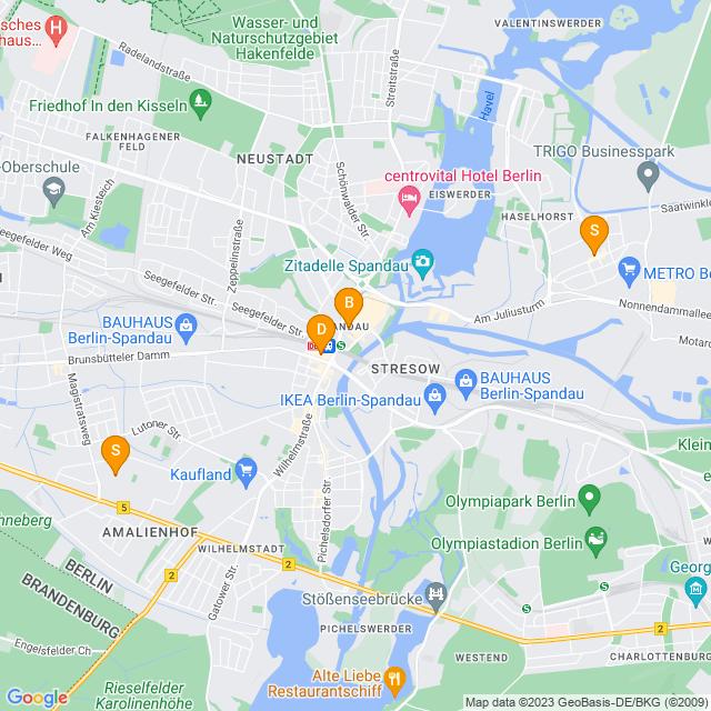 Karte Fahrradständer in Spandau