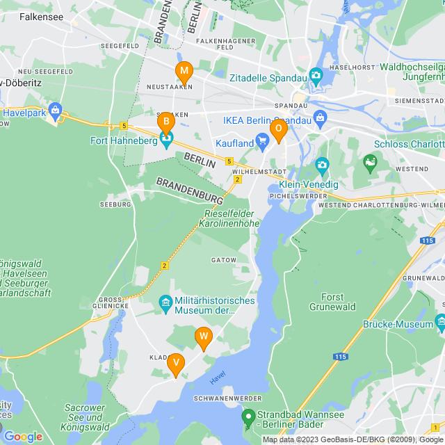 Karte Obstläden in Spandau