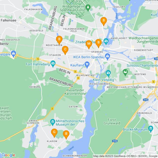Karte Fleurop in Spandau