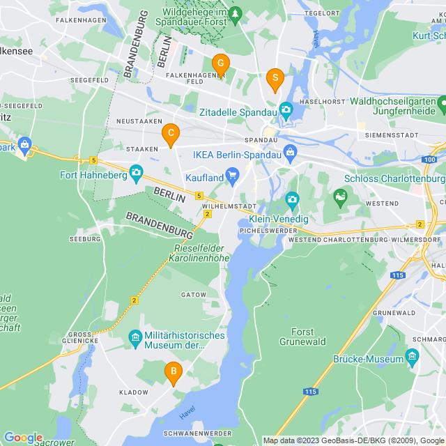 Karte Blumenabonnement in Spandau
