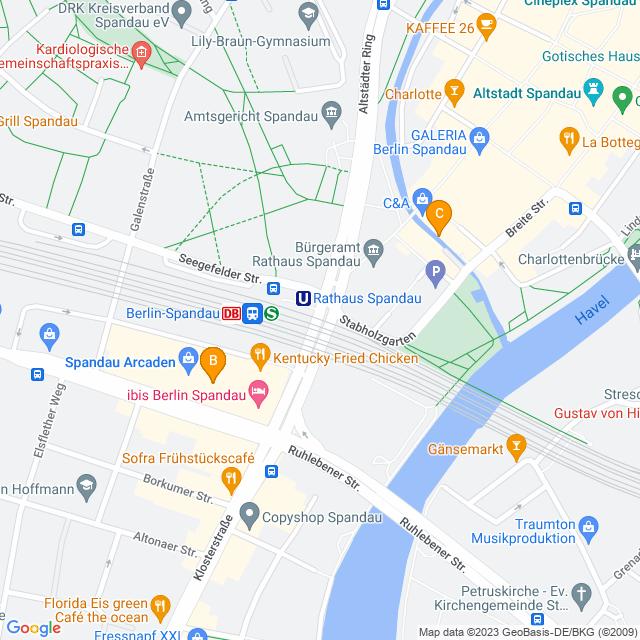 Karte WC in Spandau