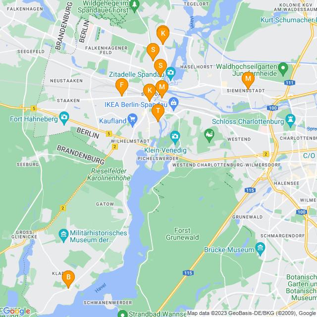 Karte DPD Pickup Paketshop in Spandau
