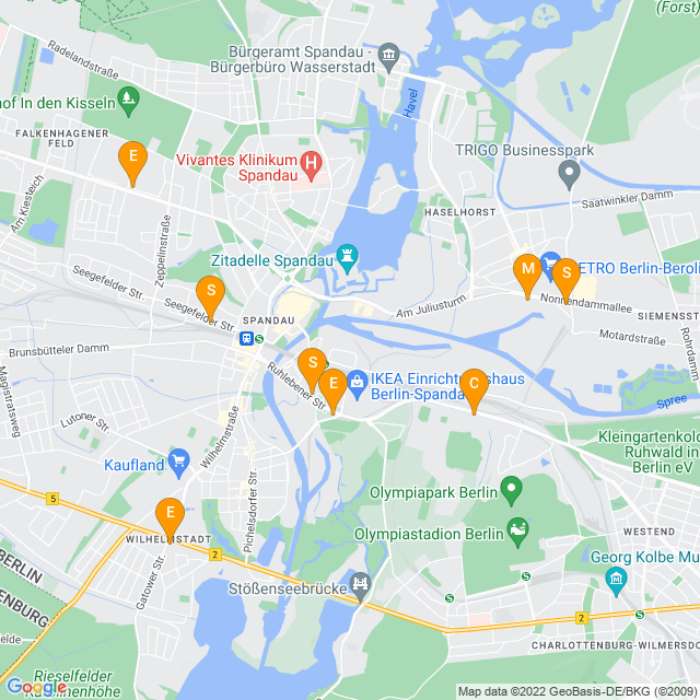 Karte Auto-Sauger in Spandau