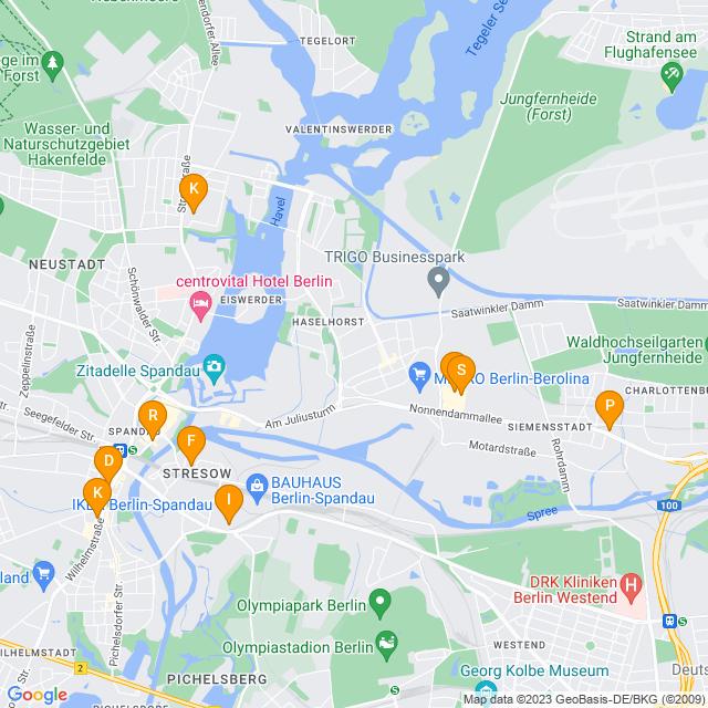 Karte Küchenplanung in Spandau