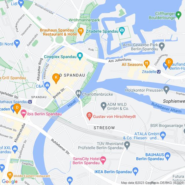 Karte Sportschuhe in Spandau
