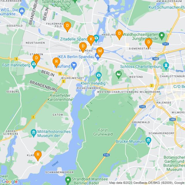 Karte Fotoentwicklung in Spandau
