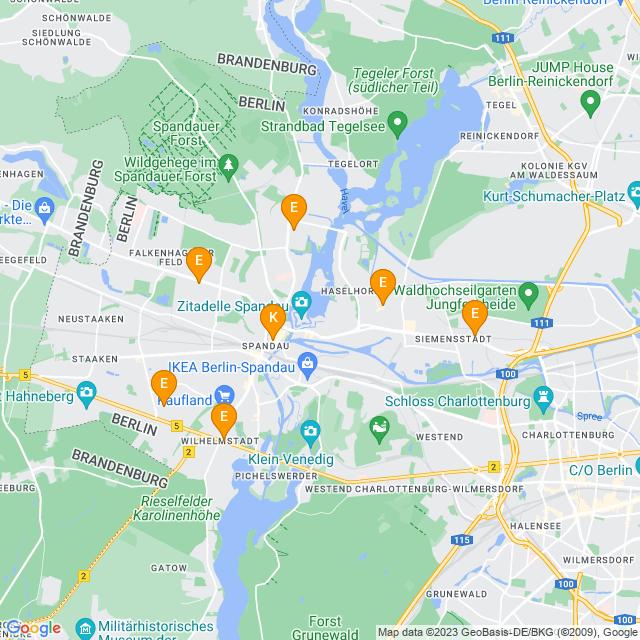 Karte Weinberatung in Spandau