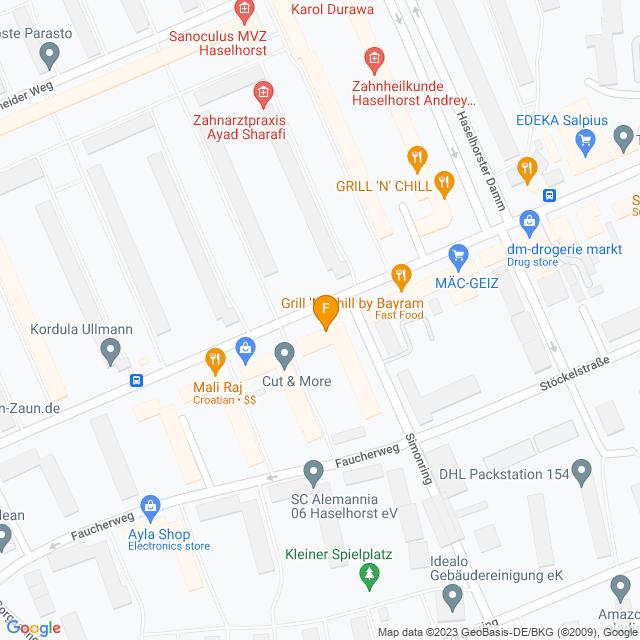 Karte Fahrradhaus Dreger in Spandau