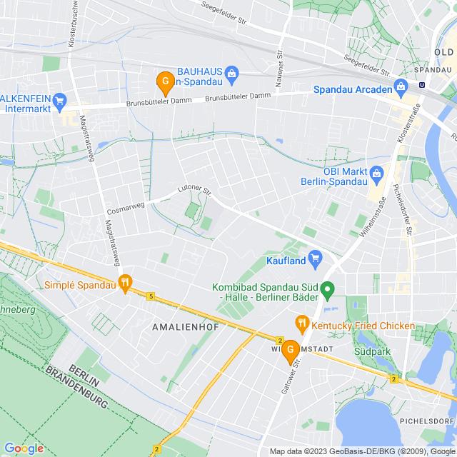 Karte Bierzeltgarnituren-Verleih in Spandau