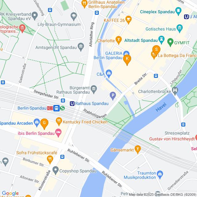 Karte Vorbestellung möglich in Spandau