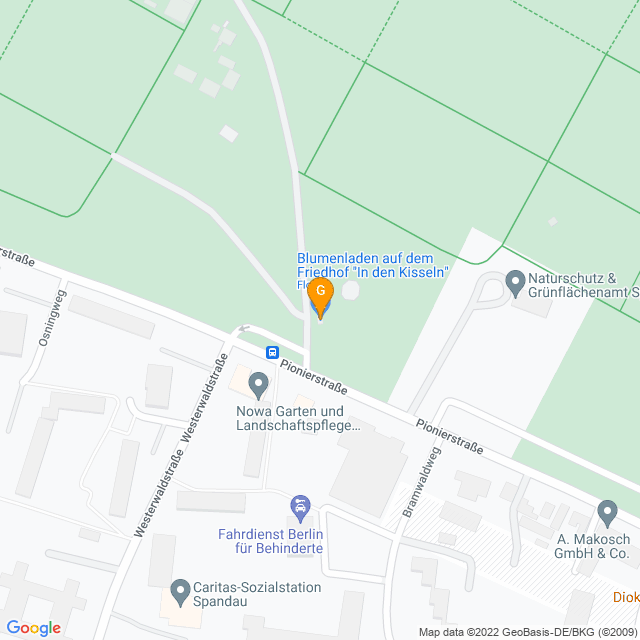Karte Pflanzenpflege in Spandau