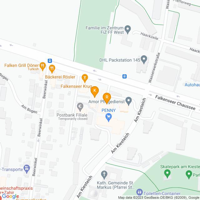 Karte Einkaufszentrum Falkenseer Chaussee in Spandau