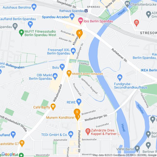 Karte Fax-Service in Spandau