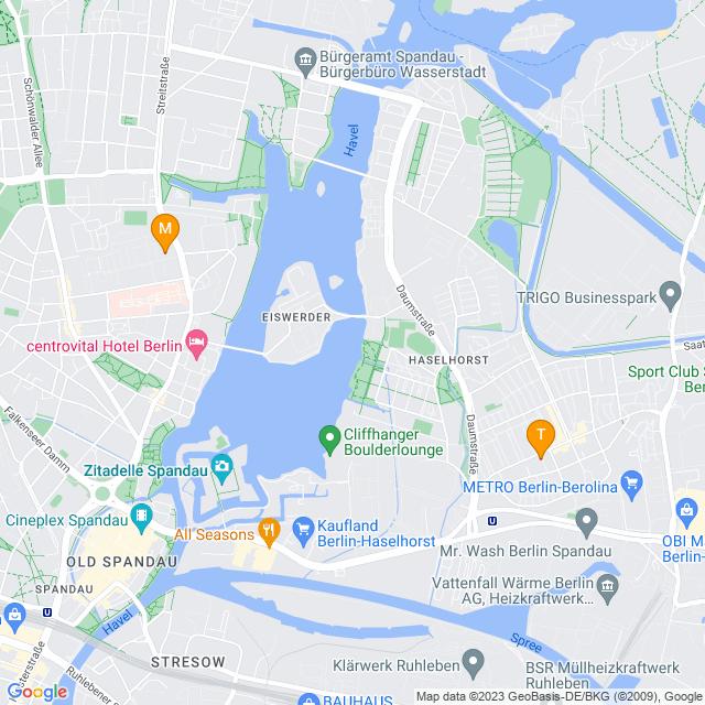 Karte Entrümplungen in Spandau