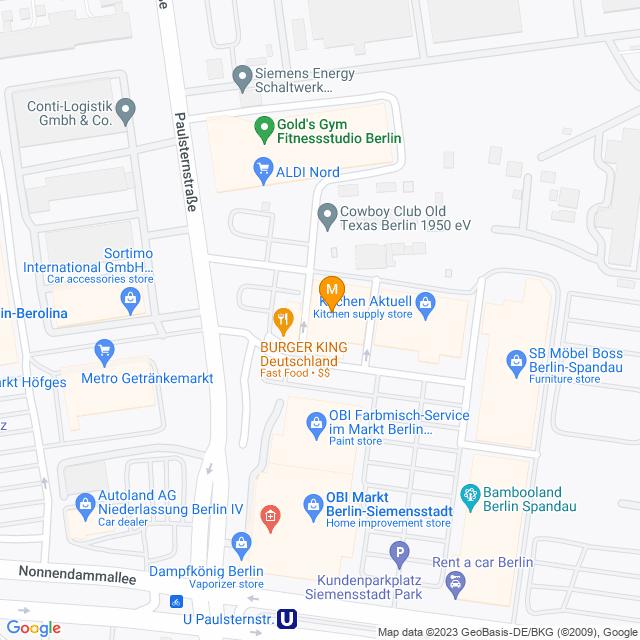 Karte Multipolster in Spandau
