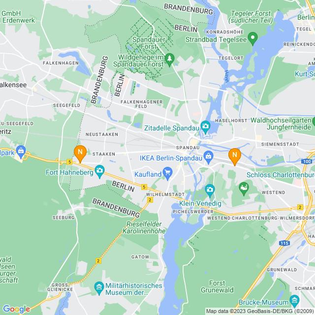 Karte NETTO - Nur echt mit schwarzem Hund auf gelben Grund! in Spandau