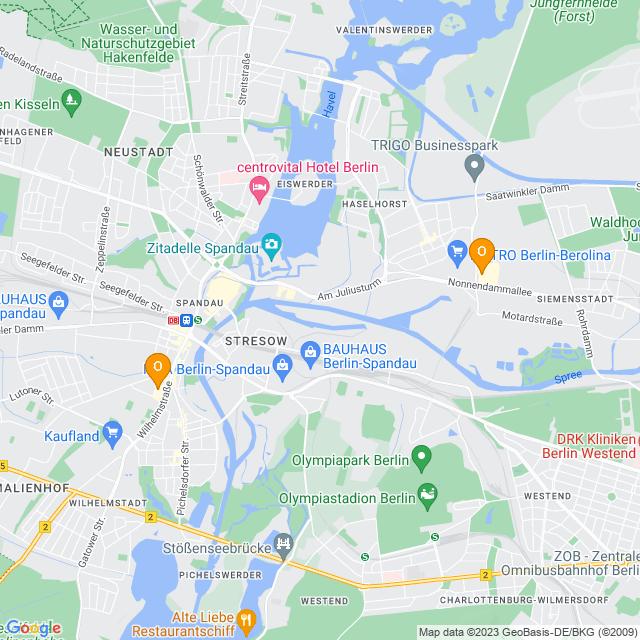 Karte Obi in Spandau
