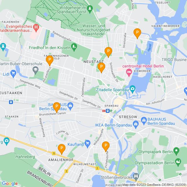 Karte PENNY Markt in Spandau