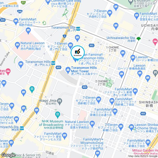 虎ノ門オフィス地図