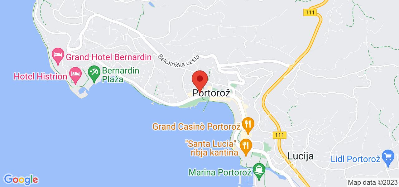 Mapa Hotel Slovenija**** Portorož