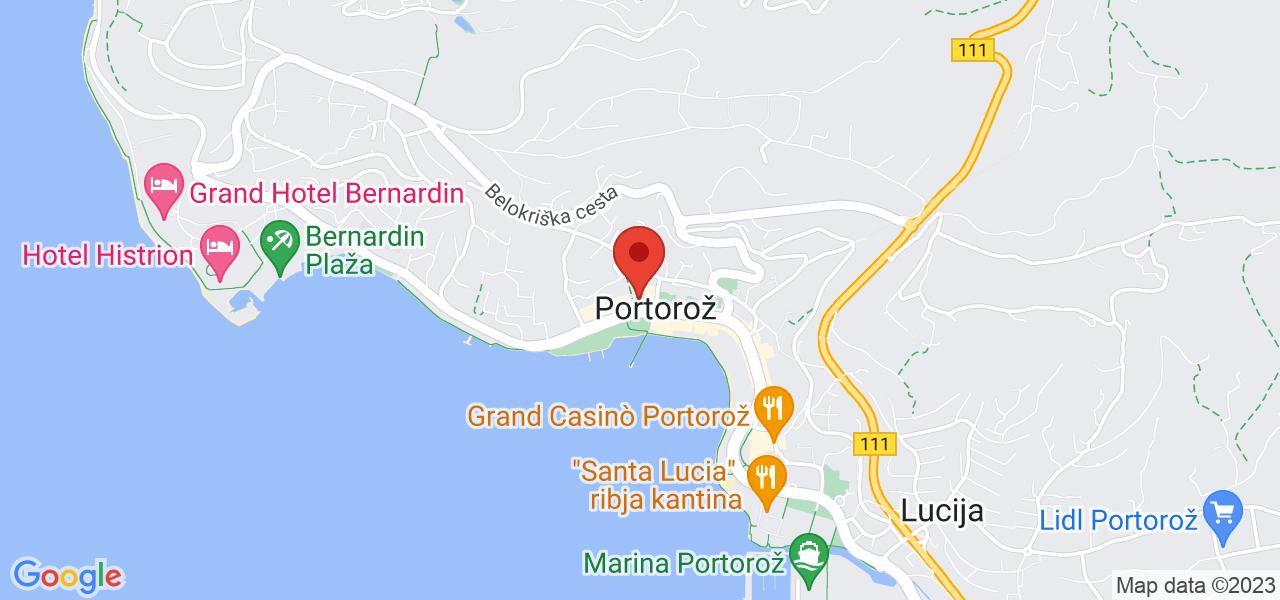 Mapa Hotel Grand Hotel Portorož**** Portorož