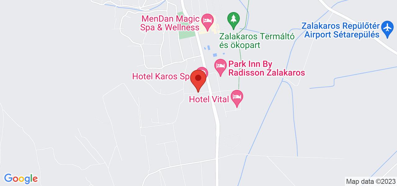 Mapa Hotel Karos Spa superior**** Zalakaros