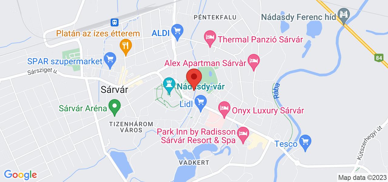 Mapa Hotel Danubius Health Spa Resort Sárvár**** Sárvár
