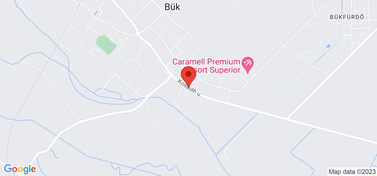 Mapa Hotel Piroska**** Bükfürdő