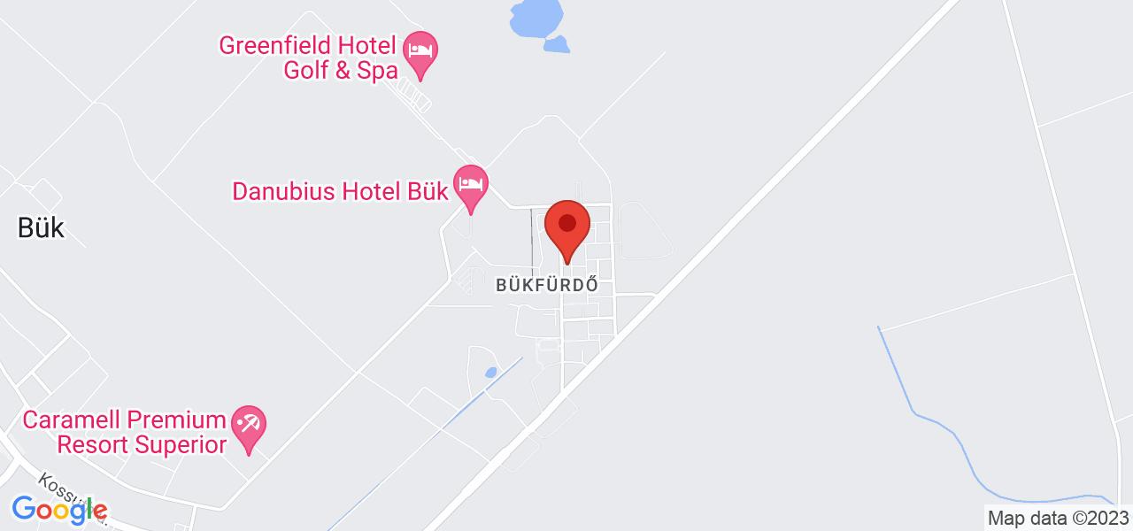 Mapa Apartmán Hotel Bukfurdo*** Bükfürdő